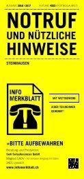 Infomerkblatt Steinhausen