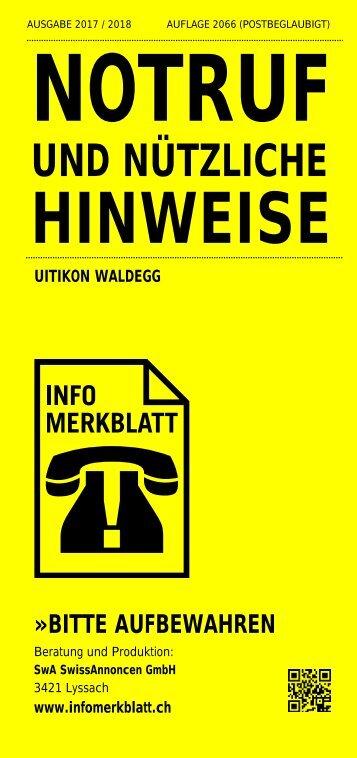 Infomerkblatt Uitikon / Waldegg