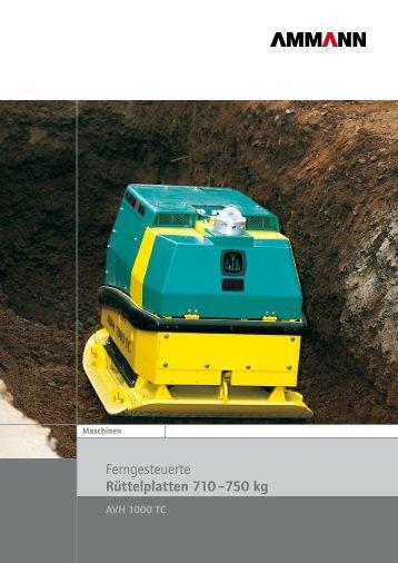 AVH 1000 TCHatz 710 / 745 kg65/80 cm - Bischoff Baumaschinen