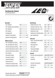 Datenblatt herunterladen - Galabautechnik
