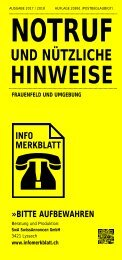 Infomerkblatt Frauenfeld und Umgebung