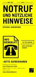Infomerkblatt Appenzell Innerrhoden