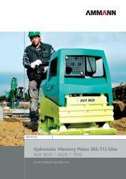 Hydrostatic Vibratory Plates 365–712 kilos AVH 5020 / 6020 / 7010