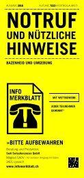 Infomerkblatt Bazenheid und Umgebung