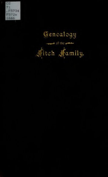 Genealogy of the Fitch family in North America - citizen hylbom blog