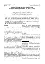 Determination of storage duration and temperature effects on ... - 3X.ro