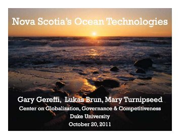 Nova Scotia's Ocean Technologies - Center on Globalization ...