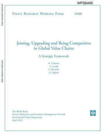 Joining, Upgrading and Being Competitive in Global Value Chains