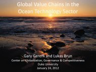 Global Value Chains in the Ocean Technology Sector - Center on ...