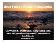 Nova Scotia's Ocean Technologies - Center on Globalization ...