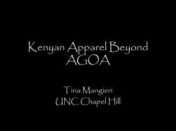Kenyan Apparel Beyond AGOA