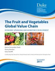 The Fruit and Vegetables Global Value Chain - Center on ...