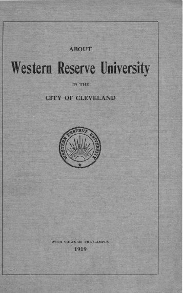 About Western Reserve University in the City of Cleveland