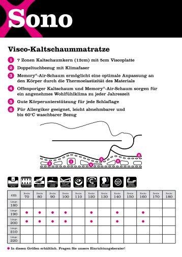 Visco-Kaltschaummatratze