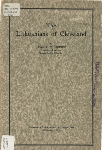 The Lithuanians of Cleveland