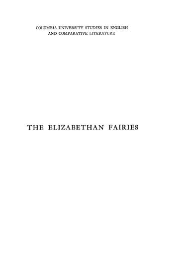THE ELIZABETHAN FAIRIES