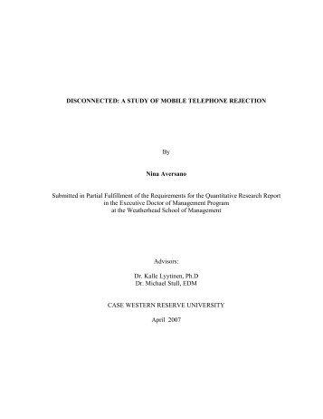 Explaining the logistic regression - Case Western Reserve University