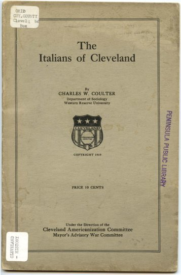 The Italians of Cleveland