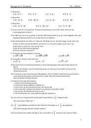 Übungen zur 3. Schularbeit 2D – 2009/10 1 1) Berechne! a) 3 :2 + ...