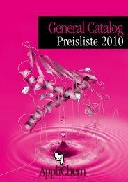 Preisliste 2010 - Applichem