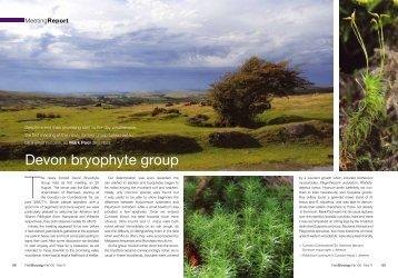 Devon bryophyte group