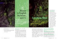 Mosses in English literature, part 5: 'Luminous Moss'