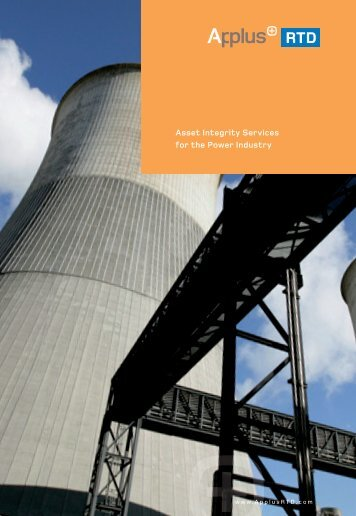 Asset Integrity Services for the Power Industry - Applus RTD