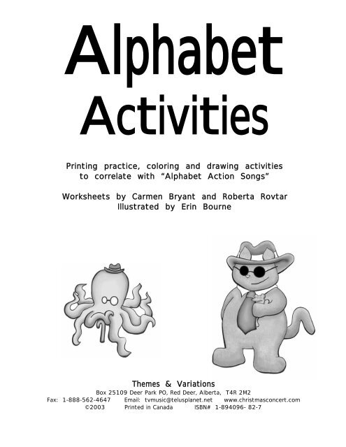 Alphabet Action Songs - Themes & Variations
