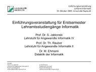 WS 2009/10 - Didaktik der Informatik - Universität Bayreuth