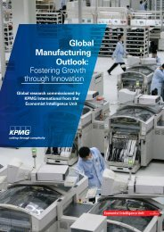 Global Manufacturing Outlook: - KPMG