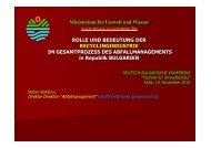 Ministerium für Umwelt und Wasser www.moew ... - AHK Bulgarien