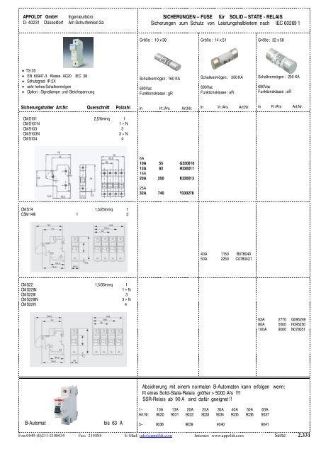 complete Catalog - Appoldt Gmbh