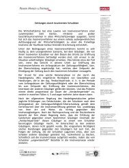 Zahlungen durch insolventen Schuldner Die ... - AHK Bulgarien