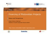 Financing of Photovoltaic Projects - AHK Bulgarien