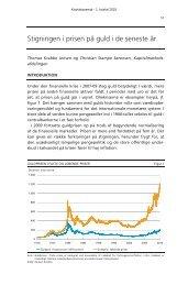 Stigningen i prisen på guld i de seneste år - Danmarks Nationalbank