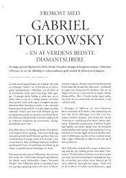 Gabriel Tolkowsky – en af verdens bedste diamantslibere