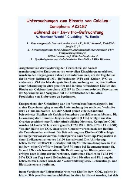 Untersuchungen zum Einsatz von Calcium- Ionophore ... - AET-d