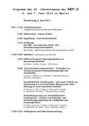 Tagungsprogramm Zeitplan - AET-d