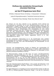 Einfluss des assistierten Zonaschlupfs (Assisted Hatching ... - AET-d