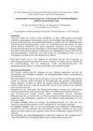 Experimentelle Untersuchungen zur Verbesserung der ... - AET-d