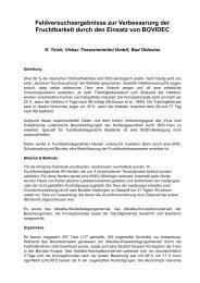 Feldversuchsergebnisse zur Verbesserung der ... - Aet-d.de