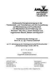 """""""Verbesserte Energieversorgung in der Trockensteh- und ... - AET-d"""