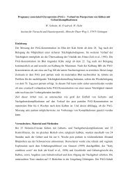Pregnancy associated Glycoprotein (PAG) – Verlauf im ... - AET-d