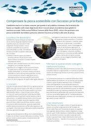 Compensare la pesca sostenibile con l'accesso ... - Ocean2012