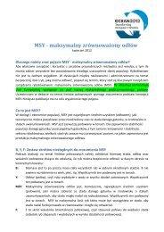 MSY - maksymalny zrównoważony odłów - Ocean2012