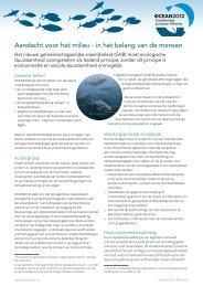 Aandacht voor het milieu - in het belang van de mensen - Ocean2012