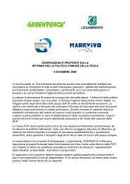 OSSERVAZIONI E PROPOSTE SULLA RIFORMA ... - Ocean2012
