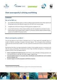 Fleet overcapacity is driving overfishing - Ocean2012