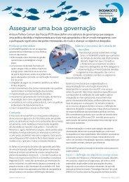 Assegurar uma boa governação - Ocean2012