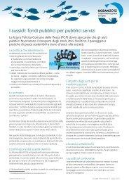 I sussidi: fondi pubblici per pubblici servizi - Ocean2012